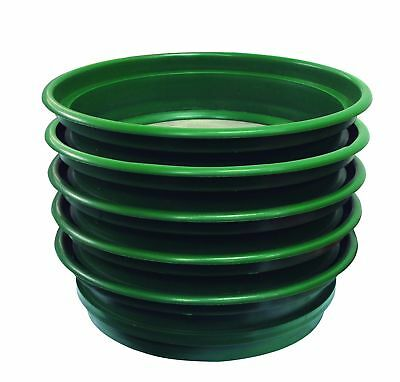 SE GP2-5 SET 5-Piece Set of Patented 13-1/4'' Stackable Sifting Pans