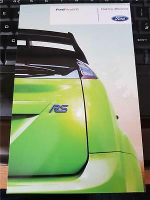 FORD - FOCUS RS mk2 - 2009 to 2010 MODEL - SPECIFICATIONS INFORMATION POSTCARD