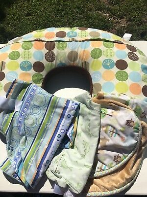 Boppy Pillow with 4 covers