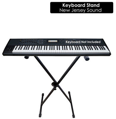 Jersey Sound Folding X Frame Type Keyboard Stand 5 Position Height 650-1000mm