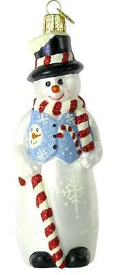 Old World Christmas Glistening Holiday Snowman Ornament