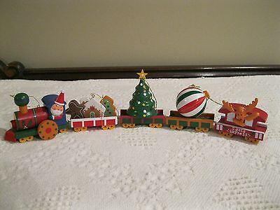 Avon Christmas Train Ornament, Complete 5 Piece Set