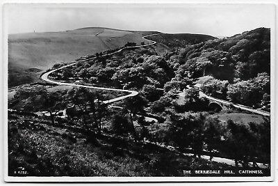 Vintage Postcard. R.P. The BERRIEDALE HILL, Caithness.  Unused.  Ref:79116