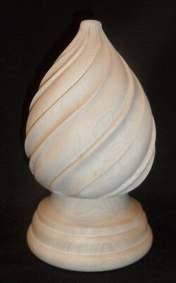 Carved maple wood finial
