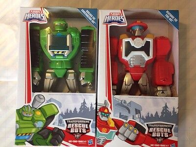 TRANSFORMERS RESCUE BOTS HEATWAVE BOULDER PLAYSKOOL 12 Inch Tall