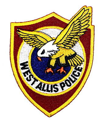 """WEST ALLIS WISCONSIN WI Police Sheriff Patch FLYING EAGLE 3.75"""" ~"""