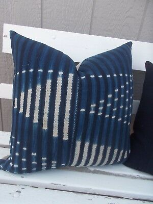 SALE African Baule Indigo mud cloth pillow cover