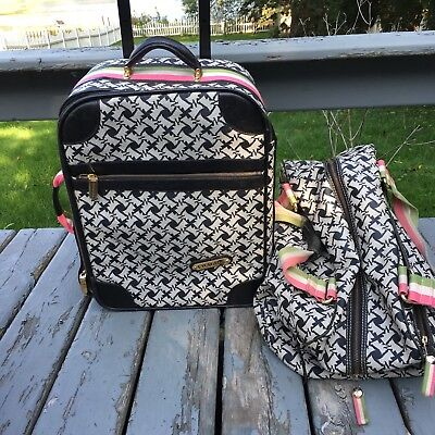 Juicy Couture Scottie Dog Print Luggage Set