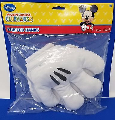 Disney Mickey Mouse Clubhouse Stuffed Hands Gloves Costume Accessory Child Size