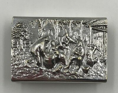 Denmark Silver Plated  Match Box Holder Pre - Owned