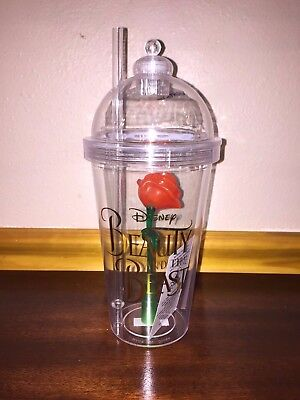 Disney Store Beauty and the Beast Enchanted Rose Light Up Cup New