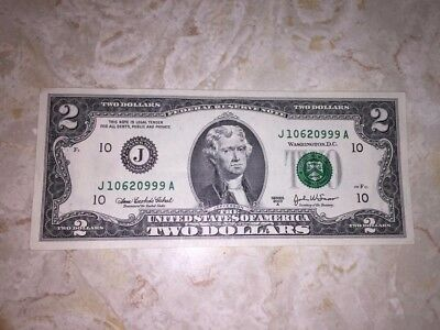 US $2 + $1 Federal Reserve District J Notes-Kansas City, MO-Lot of 3 Notes!