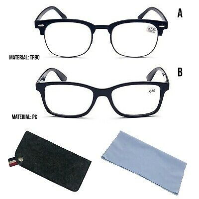 Reading Glasses 1.0-4.0 Unisex Mens Ladies TR90 PC Designer Lightweight Trendy