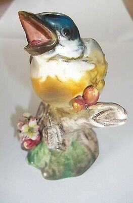 Vintage Porcelain Bird Figurine Made In Italy Hand Painted