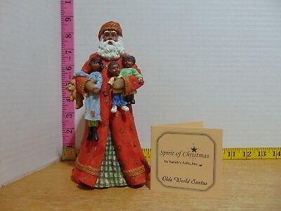 1998 Sarah's Attic Spirit Of Christmas 6556 Special Delivery Santa Figurine NIB