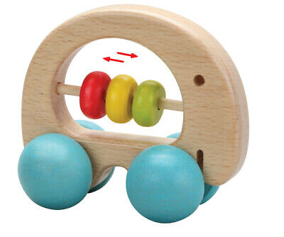 Elephant Rattle by Classic World | Kids Baby Childrens First Rattle Wooden NEW