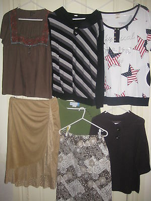 7 X items ladies tops & skirts bulk lot size small all squeaky clean EC or new