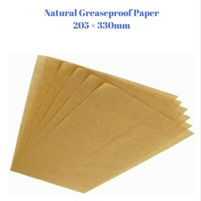 Natural Greaseproof Paper - Non Stick Coating - 205 × 330 mm - FREE POST