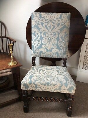 17Th Century Charles 11 Side Chair Circa 1650...