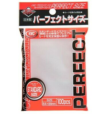 KMC Card  Perfect Barrier Sleeves 100 Piece Clear 64 x 89mm Japan import