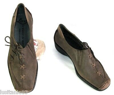 Luxat - Comfort Shoes All Brown Leather Matt 36.5 & 37.5 - New & Box