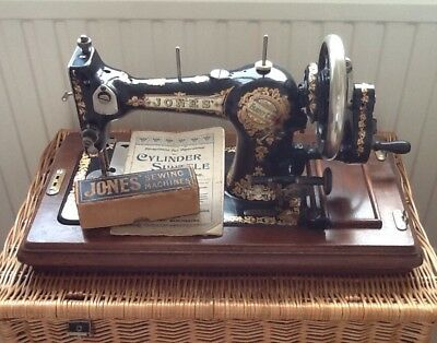 Antique/Vintage Hand Operated Jones Family C.S.Sewing Machine Serial No