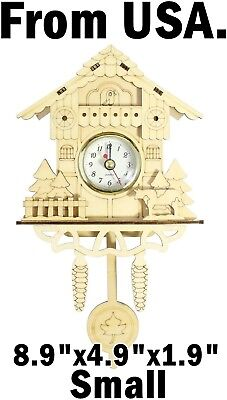 Wall Clock Cuckoo Wooden Pendulum Watch Home Decor Kids Timer Vintage Nursery US