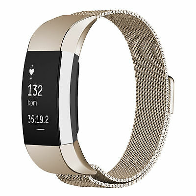 Fitbit Charge 2 Strap Replacement Band Milanese Loop Stainless Steel Magnet Lock
