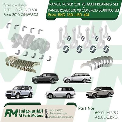Range Rover / Land Rover / Jaguar 5.0L V8 CRANKSHAFT MAIN & CON. ROD BEARING SET