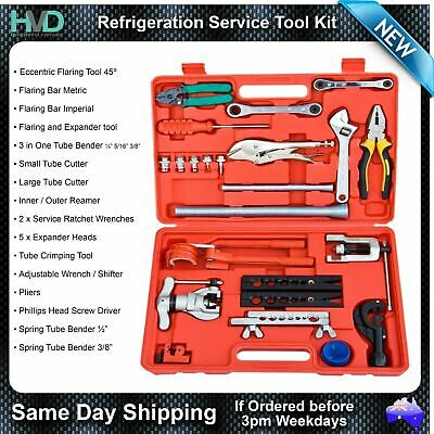 Tool Kit for Refrigeration - Tube Flaring, Expanders, Cutters, Benders, Wrenches
