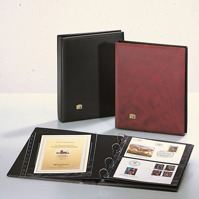 FDC Albums Package - Wine Red w/10 Pages # 522