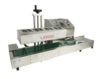 CE 220V Continuous Induction Sealer Bottle Cap Sealing Machine LX6000