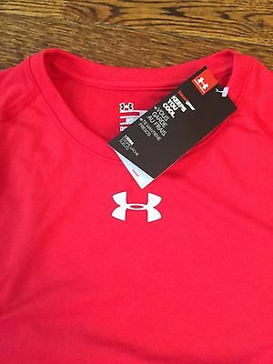 Men's Under Armour Red Short Sleeved T-shirt Assorted Sizes Brand New w/Tags