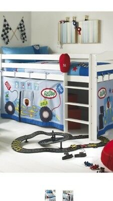Izziwotnot Pit Stop Playhouse Kids Bed Canopy Racing Set