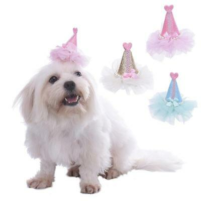 Bling Sequins Dog Hair Bows Puppy Hair Clips Dog Grooming Accessory Hat Shape