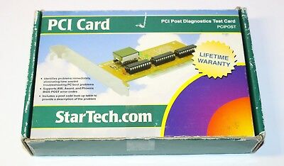 StarTech.com PCI POST PC System Diagnostics Test Card with 2 x 7 Segment LED
