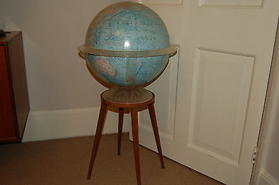 Globe..National Geographic   on a walnut stand 1960's