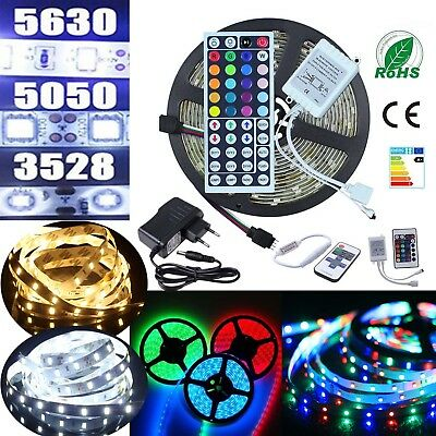 1m-10m Set SMD 5630 5050 3528 LED Strip Streifen Band Leiste Stripe Lichterkette