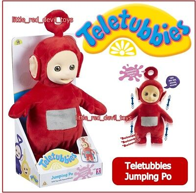 NEW Teletubbies JUMPING PO Giggles Jumps Talks Sings Fun Phrases Soft Plush Toy