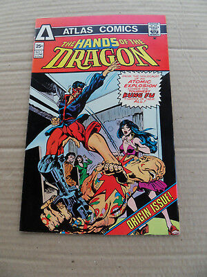 Hands Of The Dragon 1 . Origin / 1st App -  Atlas . 1975  . VF - minus