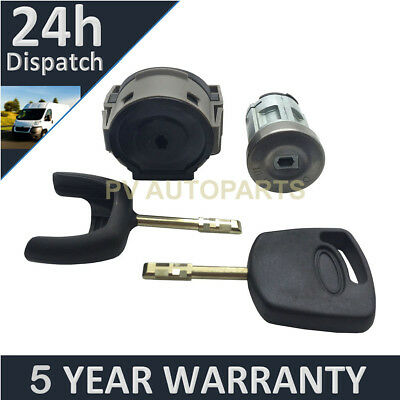 For Ford Fiesta Mondeo Transit Ignition Switch Repair Kit Ignition Lock & 2 Keys