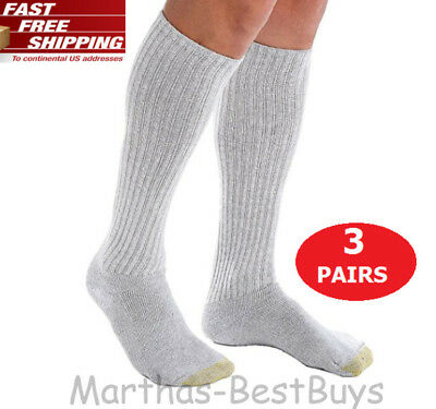 Gold Toe Men's Over the Calf Ultra Tec Performance Athletic Cotton Socks 3-Pack