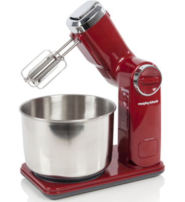 Morphy Richards Accents Folding Stand Mixer Red 400404 300 Watt Brand New 300w