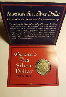 The American Historic Society presents Americas First Silver Dollar - Clad Coin