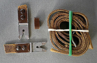 original Rolleiflex T strap alligator / scissor strap clips used TLR