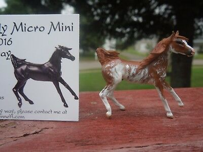CM Micro Mini Artist Resin Model Horse Caraway in Chestnut Sabino