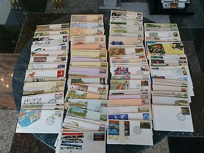 Bulk Lot FDC Pre Stamped Envelopes Mostly 1980s Good Variety with Duplication