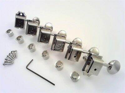 TCS® Gotoh Vintage 6 inline Nickel H.A.P. NON LOCKING Tuners for Fender Strat