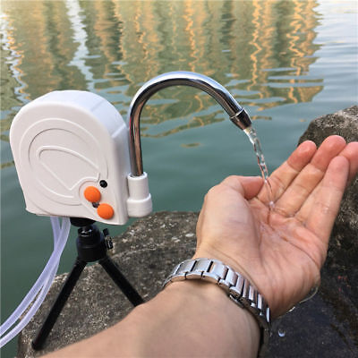 Portable Wash Hand Water Pump For Fishing Camping Outdoor  With Tripod Stand