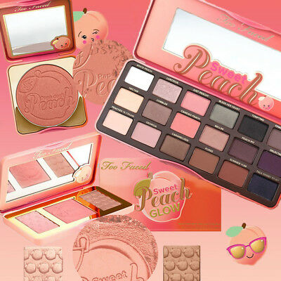 Too Faced Sombra de ojo de melocotón dulce/Highlighter/Blush colección de paleta